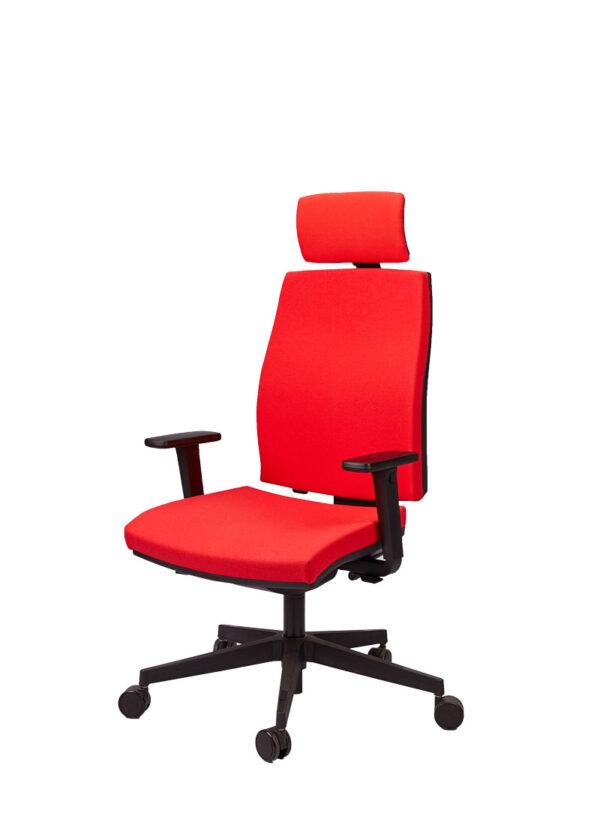 Moderna Radna stolica - Job (sa uzglavljem) modernog dizajna, udobna , crvene boje - online shop - Commodo Home & Living