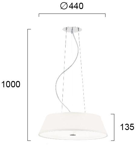 Moderni Luster Bianco modernog dizajna , kvalitetan , bijele boje - online shop - Commodo Home & Living
