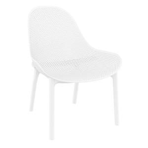Moderna Stolica za baštu Sky Lounge klasičnog dizajna, udobna, bijele boje - internet prodaja - Commodo Home & Living