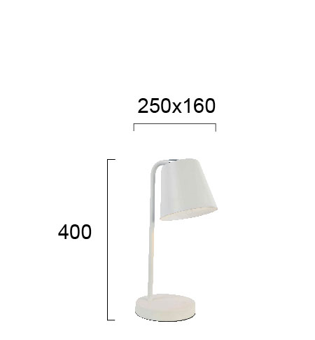 Moderna Stona Lampa Lyra unikatnog dizajna , bijele boje - Internet prodaja - Commodo Home & Living