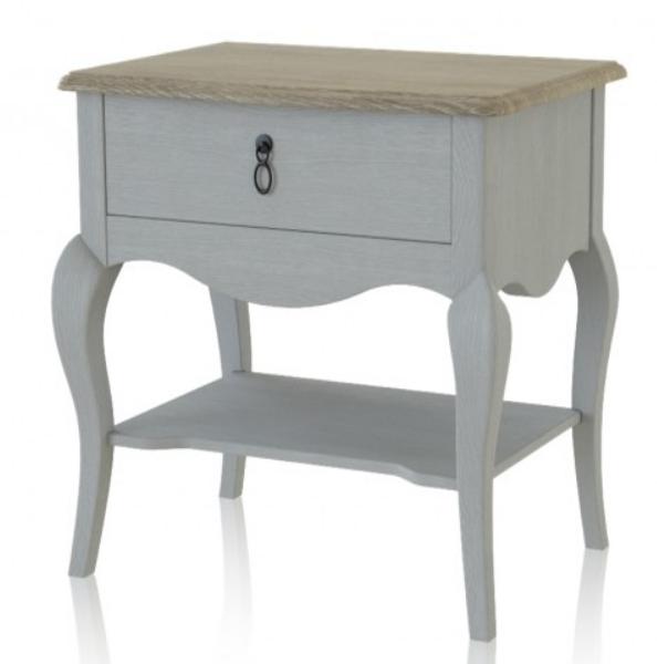 Moderni Noćnik Gala modernog i unikatnog dizajna , drveni , bijele boje - online shop - Commodo Home & Living