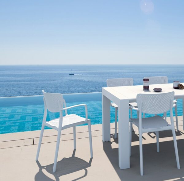 Moderna Stolica za baštu Loft klasičnog dizajna, udobna, bijele boje - internet prodaja - Commodo Home & Living