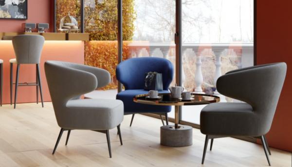 Moderna Stolica Ogiaro Leisure modernog dizajna, udobna , plave boje - online shop - Commodo Home & Living