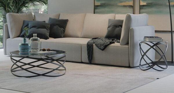 Moderni Klub Sto Paola neobičnog dizajna, kvalitetan ,crne boje - internet prodaja - Commodo Home & Living