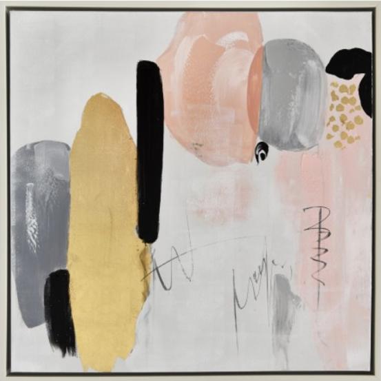 Moderna Slika – Tarsia Gold (ulje na platnu) 80×80 - online shop - Commodo Home & Living