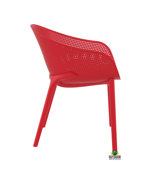 Moderna Stolica za baštu Sky klasičnog dizajna, udobna, crvene boje - internet prodaja - Commodo Home & Living