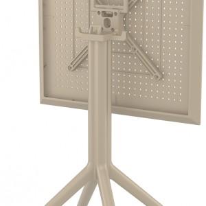 Moderni Sklopivi Sto za baštu Sky jednostavnog dizajna,praktičan, bež boje - online shop - Commodo Home & Living