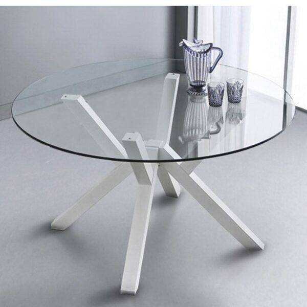 Moderni Sto Mikado modernog dizajna , kvalitetan , drveni , bijele boje - online shop - Commodo Home & Living