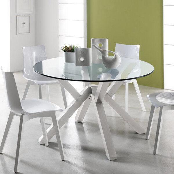 Moderni Klub Sto Trpezarijski sto - Mikado (Bianco) neobičnog dizajna, kvalitetan, bijele boje - internet prodaja - Commodo Home & Living