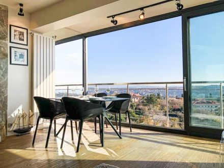 Moderna Stolica za baštu Sky klasičnog dizajna, udobna, crne boje - internet prodaja - Commodo Home & Living