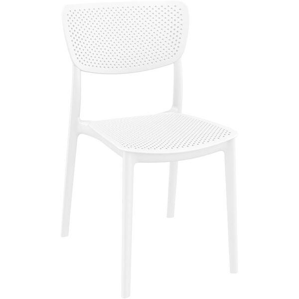 Moderna Stolica za baštu Lucy klasičnog dizajna, udobna, bijele boje - internet prodaja - Commodo Home & Living
