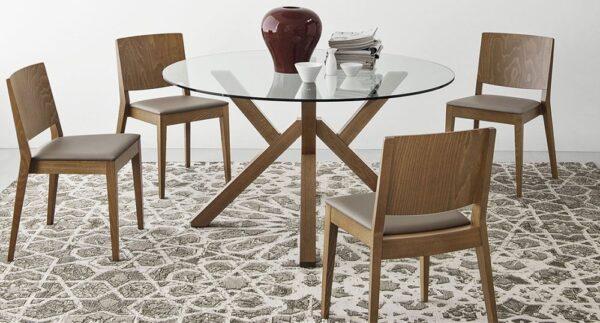 Moderni Klub Sto Trpezarijski sto - Mikado neobičnog dizajna, kvalitetan, orah boje - internet prodaja - Commodo Home & Living