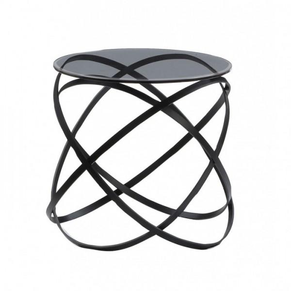 Moderni Klub Sto Paola Manji neobičnog dizajna, kvalitetan ,crne boje - internet prodaja - Commodo Home & Living