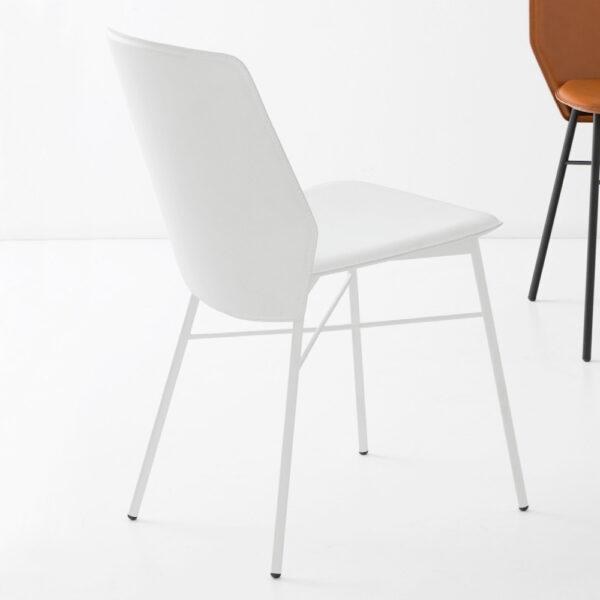 Moderna Trpezarijska Stolica Sibilla klasičnog dizajna, kvalitetna , bijele boje - internet prodaja - Commodo Home & Living