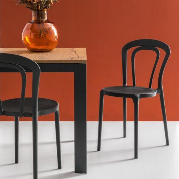 Moderna Stolica Caffe neobičnog dizajna, kvalitetnai udobna , crne boje - internet prodaja - Commodo Home & Living