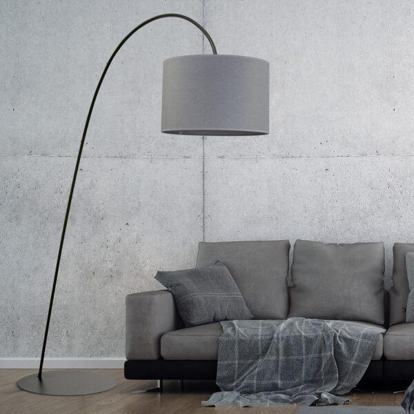Moderna Podna lampa - ALICE GRAY modernog dizajna,kvalitetna , sive boje - internet prodaja - Commodo Home & Living