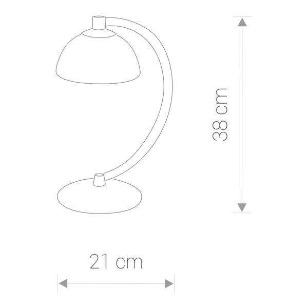 Moderna Stona lampa BARON I modernog dizajna ,kvalitetna , bež boje - internet prodaja - Commodo Home & Living