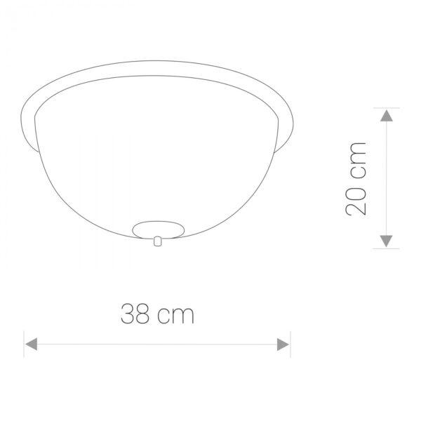 Modena Plafonjerka – BARON II B modernog dizajna ,kvalitetna , bež boje - internet prodaja - Commodo Home & Living