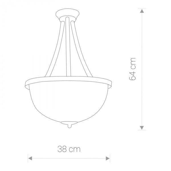 Moderni Plafonski luster - BARON III - modernog dizajna,kvalitetan, bijele boje - online shop - Commodo Home & Living