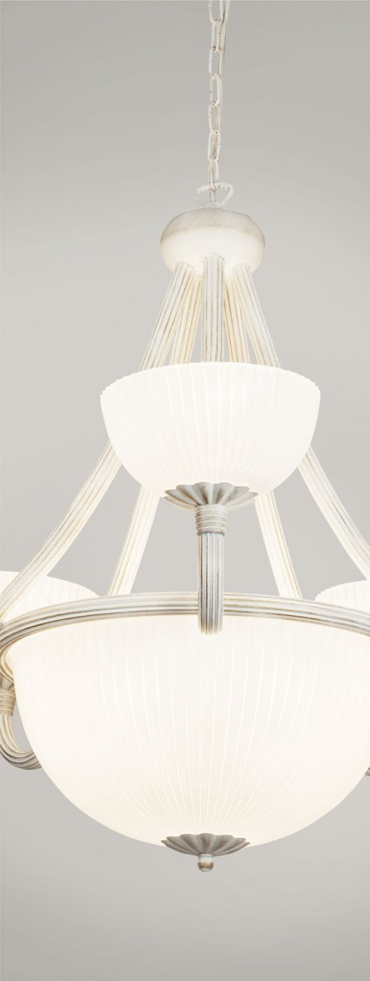 Moderna Visilica – BARON WHITE VI modernog dizajna,kvalitetna, bijele boje - online shop - Commodo Home & Living