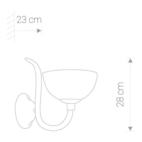 Moderna Zidna lampa- BARON - modernog dizajna,kvalitetana , bijele boje - online shop - Commodo Home & Living