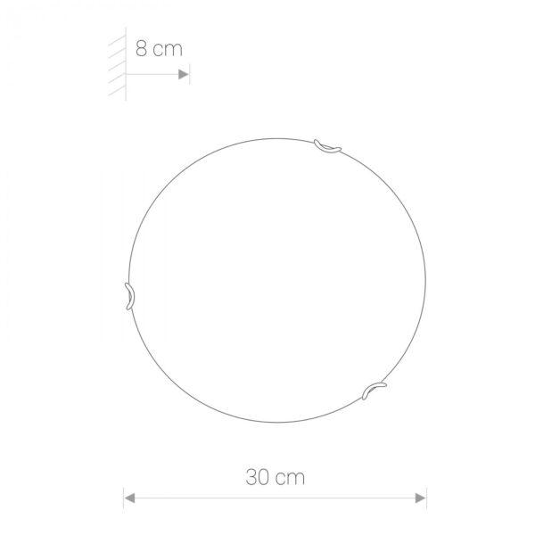 Moderna Plafonjerka -classic 9 – modernog dizajna ,kvalitetna , bijele boje - internet prodaja - Commodo Home & Living