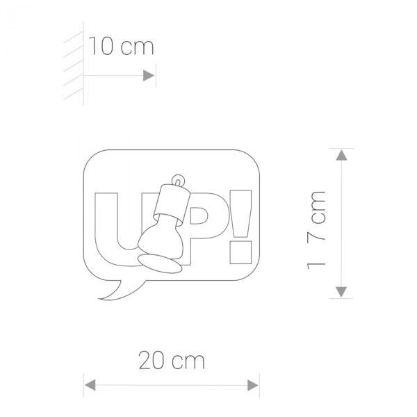 Moderna Zidna lampa - COMOC BOOK I modernog dizajna,kvalitetna, sive boje - online shop - Commodo Home & Living