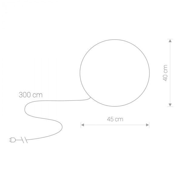 Moderna Podna spoljna lampa – CUMULUS M - modernog dizajna,kvalitetna , bijele boje - internet prodaja - Commodo Home & Living