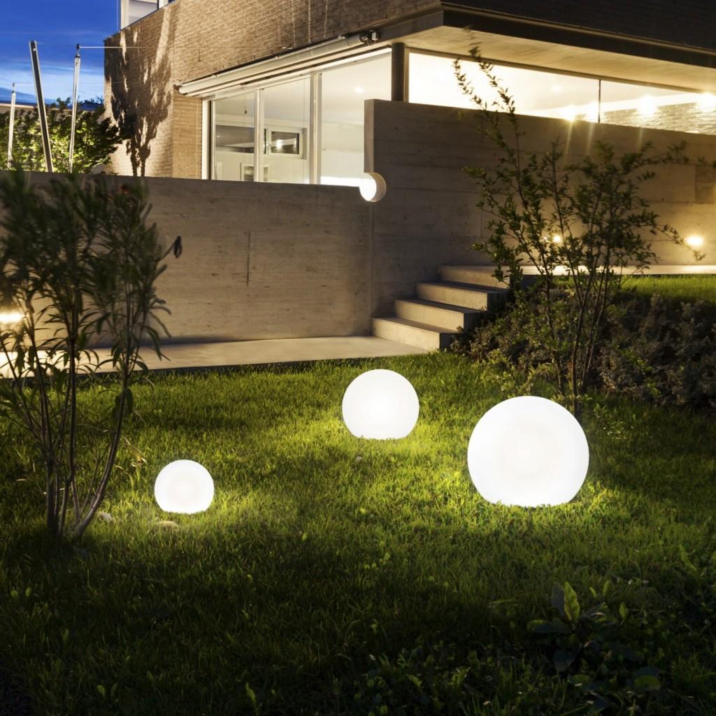 Moderna Podna spoljna lampa – CUMULUS S modernog dizajna,kvalitetna , bijele boje - internet prodaja - Commodo Home & Living