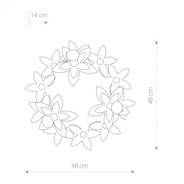 Moderni Plafonski spot - Flowers modernog dizajna,kvalitetan , roze boje - online shop - Commodo Home & Living