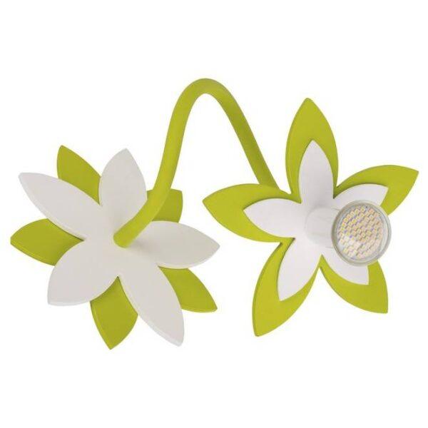 Moderna Zidna / plafonska lampa - Flowers green modernog dizajna,kvalitetna , zelene boje - internet prodaja - Commodo Home & Living