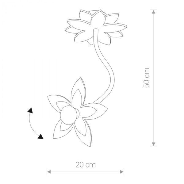 Moderna Plafonska svetiljka - Flowers Moderna Svjetiljka Flowers modernog dizajna,kvalitetna , zelene boje - online shop - Commodo Home & Living