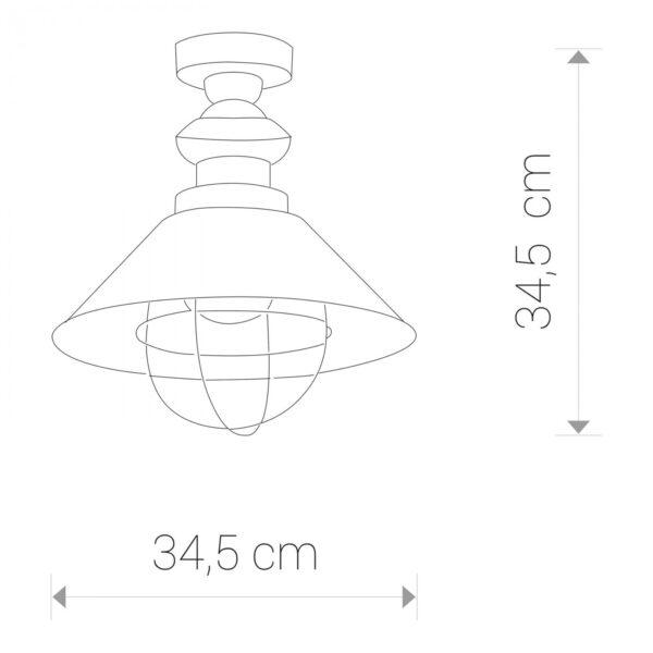 Moderna Plafonska svijetiljka – GARRET I modernog dizajna,kvalitetna , crne boje - internet prodaja - Commodo Home & Living