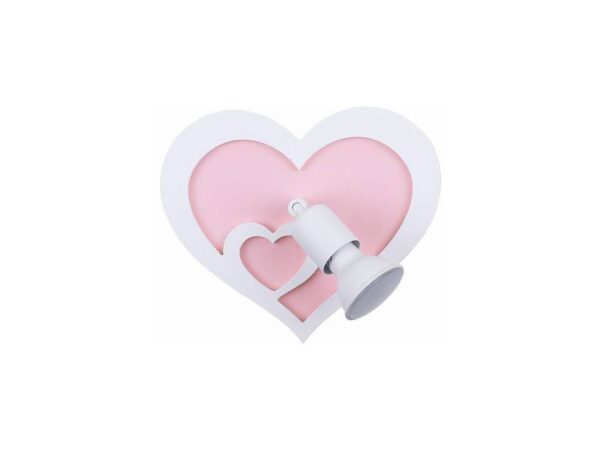 Moderna Zidna lampa - HEART modernog dizajna,kvalitetna , roze boje - online shop - Commodo Home & Living