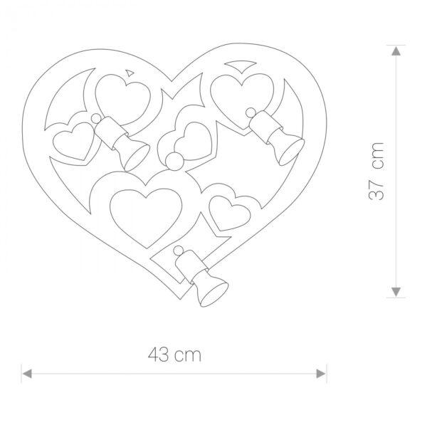 Moderna Zidna Lampa HEART modernog dizajna,kvalitetna, ljubičaste boje - online shop - Commodo Home & Living