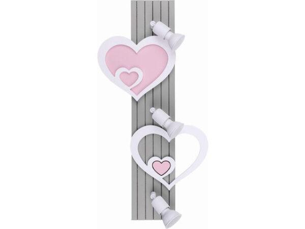 Moderna Zidna svetiljka - HEART modernog dizajna,kvalitetna, ljubičaste boje - online shop - Commodo Home & Living