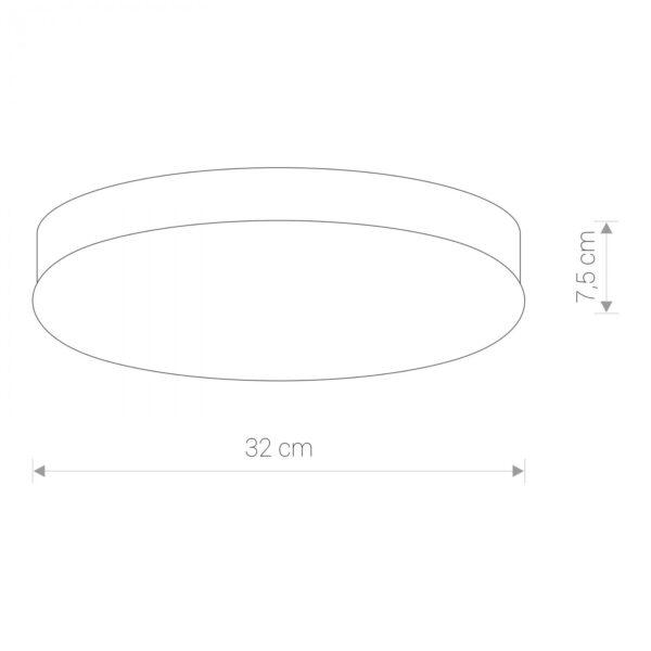 Moderna Plafonjera - KASAI CHROME modernog dizajna,kvalitetna , bijele boje - internet prodaja - Commodo Home & Living