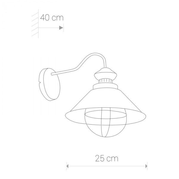 Moderna Zidna lampa - LOFT antique ecru modernog dizajna,kvalitetna, bijele boje - online shop - Commodo Home & Living