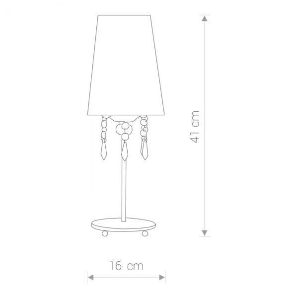 Moderna Stona lampa - MODENA modernog dizajna,kvalitetna , bijele boje - internet prodaja - Commodo Home & Living