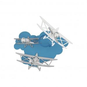 Moderna Plafonska svetiljka - PLANE - modernog dizajna,kvalitetna , plave i sive boje - online shop - Commodo Home & Living