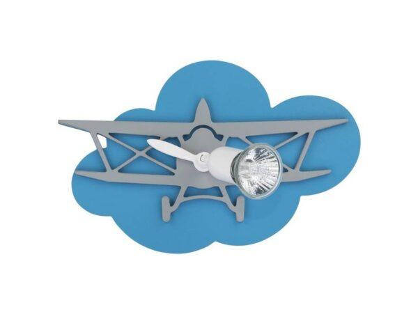 Moderna Zidna svetiljka - Plane I modernog dizajna,kvalitetna , plave i sive boje - online shop - Commodo Home & Living