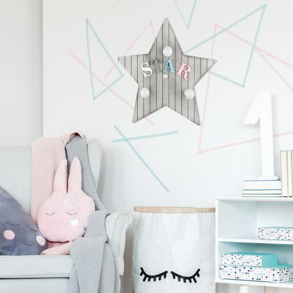 Moderna Zidna Lampa Toy Star M modernog dizajna,kvalitetna, sive boje - online shop - Commodo Home & Living