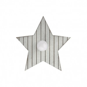 Moderna Zidna Lampa Toy Star S modernog dizajna,kvalitetna, sive boje - online shop - Commodo Home & Living