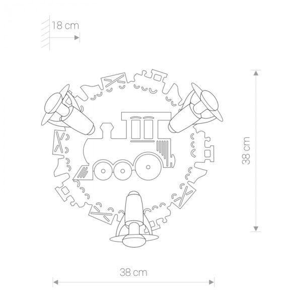 Moderni Plafonski spot - TRAIN III modernog dizajna,kvalitetan - online shop - Commodo Home & Living