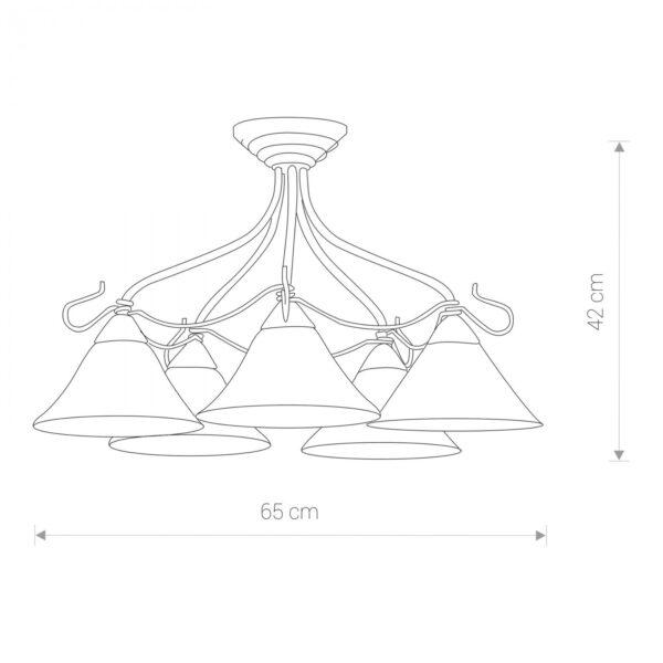 Moderni Luster VICTORIA V gold– modernog dizajna ,kvalitetan , bež boje - internet prodaja - Commodo Home & Living