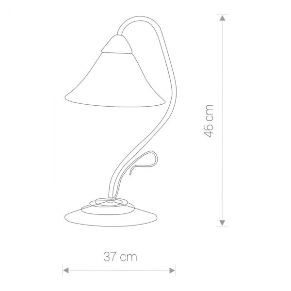 Moderna Stona lampa – VICTORIA gold modernog dizajna ,kvalitetna , bež boje - internet prodaja - Commodo Home & Living