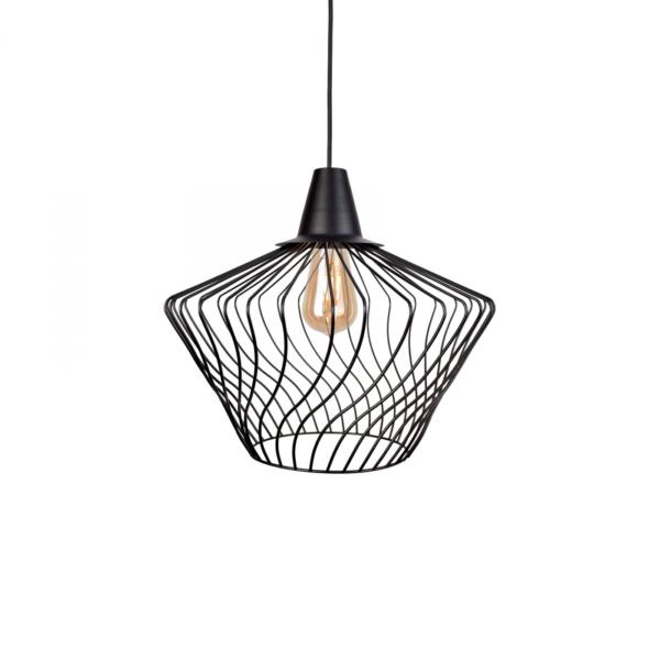 Moderna Visilica - WAVE BLACK S - modernog dizajna,kvalitetana , crne boje - online shop - Commodo Home & Living