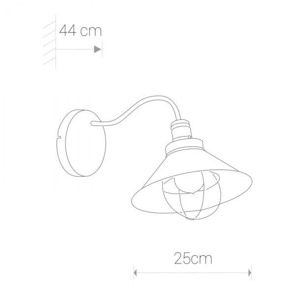 Moderna Zidna lampa GARRET modernog dizajna,kvalitetna, crne boje - online shop - Commodo Home & Living