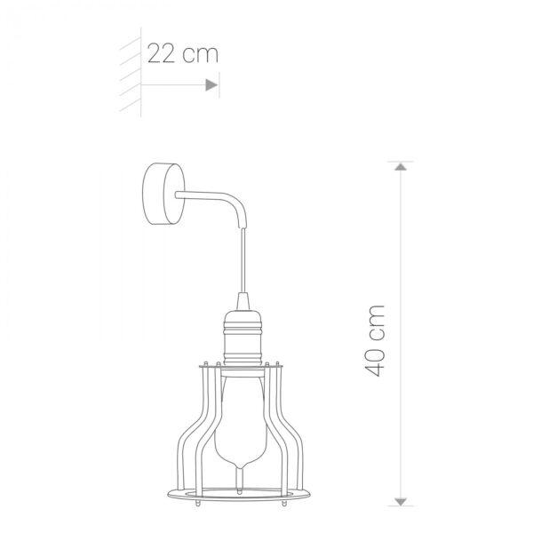 Moderna Zidna lampa WORKSHOP B modernog dizajna,kvalitetana , crne boje - online shop - Commodo Home & Living