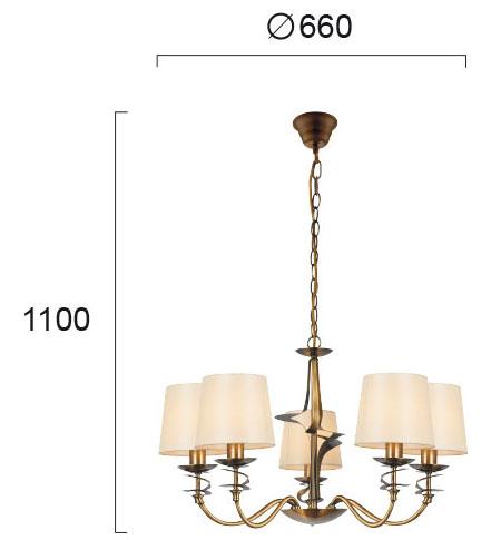 Moderni Luster – JULIET modernog dizajna,kvalitetan ,zlatne boje - internet prodaja - Commodo Home & Living